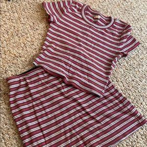 Striped Two-piece Set